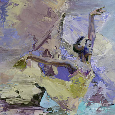 Ballerina Artwork Painting - Ballet Dance 000802ge by Gull G