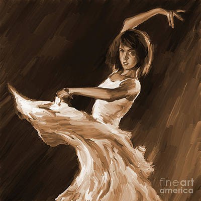 Ballet Dancers Painting - Ballet Dance 0801 by Gull G