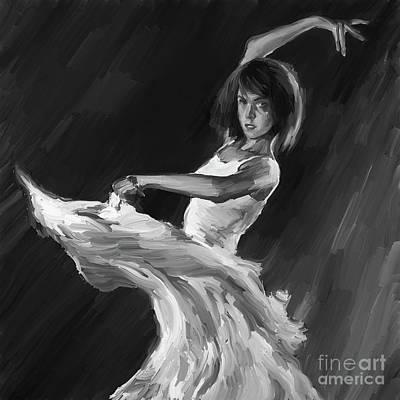 Ballet Dancers Painting - Ballet Dance 0905 by Gull G
