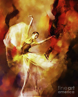 Ballet Painting - Ballet Dance 3390 by Gull G