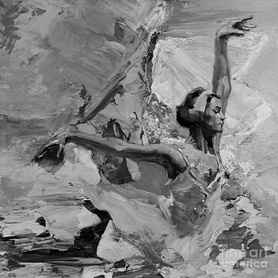 Ballerina Artwork Painting - Ballet Dance 440111 by Gull G