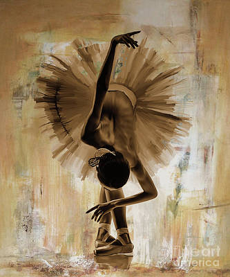 Wall Art Painting - Ballet Dance 67yu by Gull G