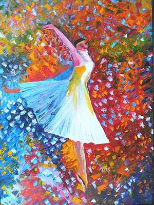 Dgt Painting - Ballet Dance by Anie