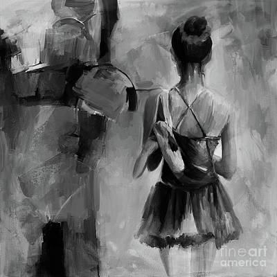 Ballet Dance Black N White 0043 Original