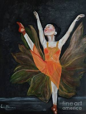 Painting - Ballet Dancer 1 by Brindha Naveen