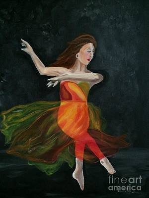 Painting - Ballet Dancer 2 by Brindha Naveen