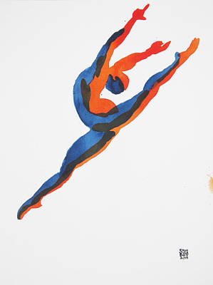 Painting - Ballet Dancer 2 Leaping by Shungaboy X