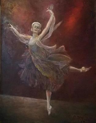 Painting - Ballet Dancer Anna Pavlova by Sylva Zalmanson