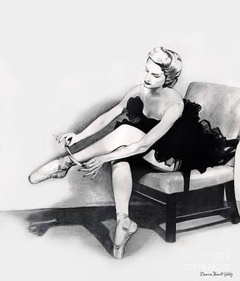 Appreciate Drawing - Ballet Dancer At Rest by Deanna Yildiz