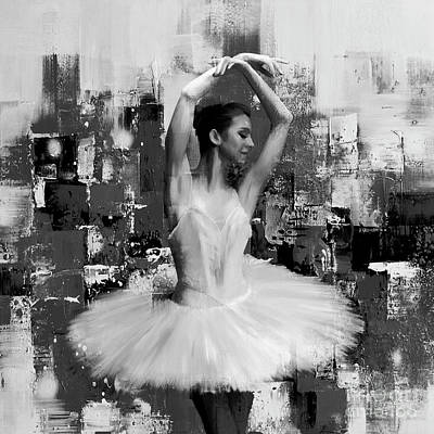 Dance Art Painting - Ballet Dancer Bbh7 by Gull G