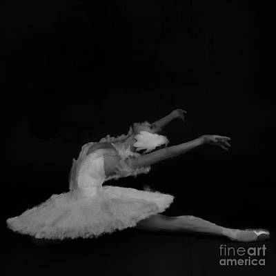 Swan Lake Painting - Ballet Dancer Black And White  by Gull G