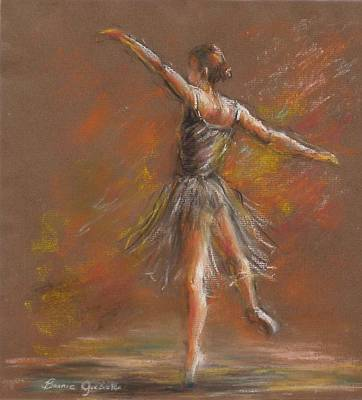 Ballet Dancer Art Print by Bonnie Goedecke