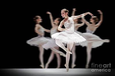 Art Print featuring the photograph Ballet Dancer Dance Photography Long Exposure by Dimitar Hristov