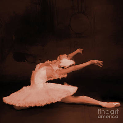 Ballet Dancer In White 01 Art Print by Gull G
