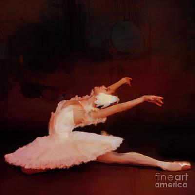 Ballet Dancer In White  Original