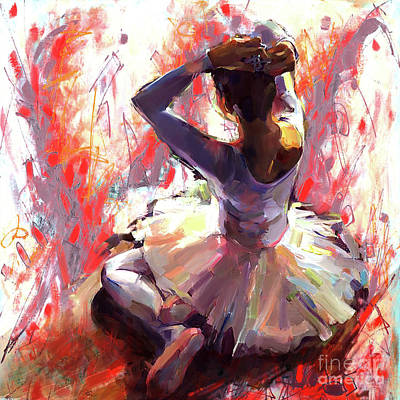 Ballet Dancer Siting  Original