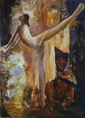 Painting - Ballet Dancer by Sylva Zalmanson