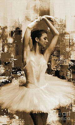 ballet dancer VC45 Art Print