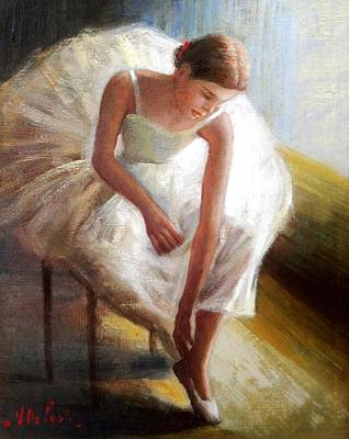 Het Painting - Ballet Dancer by Vincenzo Depaoli