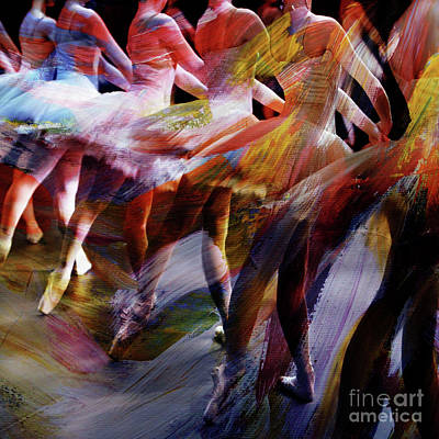 Ballet Dancer Painting - Ballet Dancers 02 by Gull G