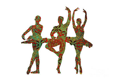 Ballet Dancer Painting - Ballet Dancers by Justyna JBJart