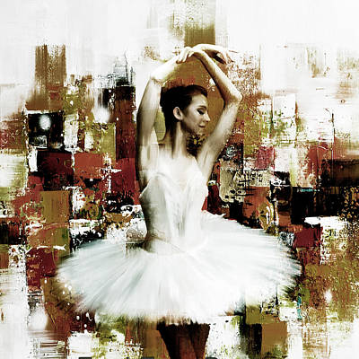 Dancers Painting - Ballet Dancing Art  445h by Gull G