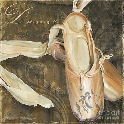 Ballet Danse En Pointe Art Print by Mindy Sommers