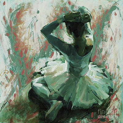Ballet Dancers Painting - Ballet Girl 34l by Gull G