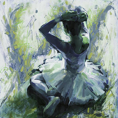 Ballet Dancer Painting - Ballet Girl by Gull G