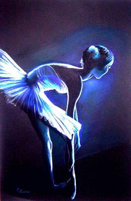 Ballet In Blue Art Print by L Lauter