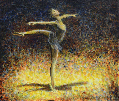 Art Print featuring the painting Ballet by Nik Helbig