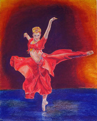 Ballet Drawing - Ballet Red by Thacia Langham