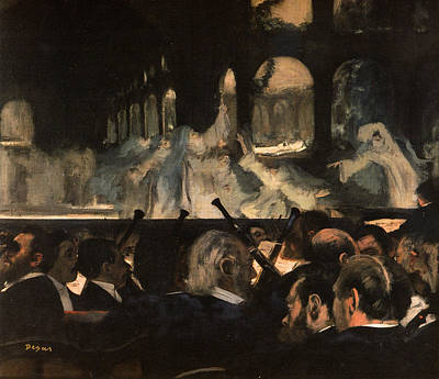Orchestra Painting - Ballet Scene From  by Edgar Degas