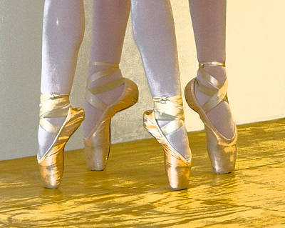 Photograph - Ballet Second Position In Gold by Ginger Wakem