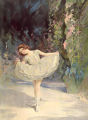 Kick Painting - Ballet by Septimus Edwin Scott