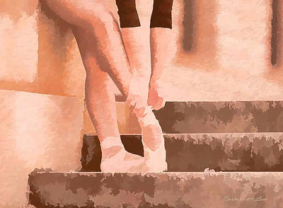 Digital Art - Ballet Shoes by Barbara A Lane