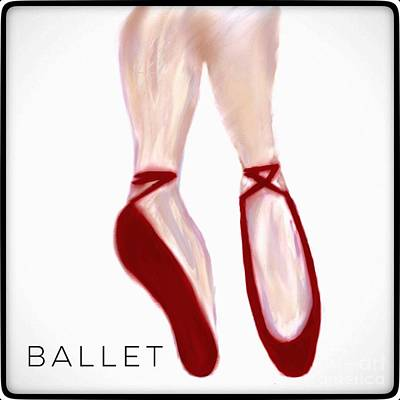 Photograph - Ballet Shoes Illustration  by Susan Garren