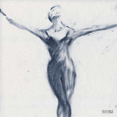 Blue Drawing - Ballet Sketch Open Arms by Beverly Brown Prints