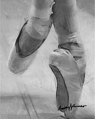 Shoe Digital Art - Ballet Slippers by Anthony Caruso