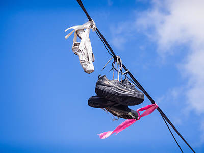 Photograph - Ballet Slippers High On  A Wire by Robin Zygelman