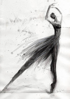 Ballet Dancers Mixed Media - Ballet Solo by Cecily Mitchell