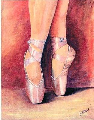 Painting - Ballet Toes by Sarah Farren