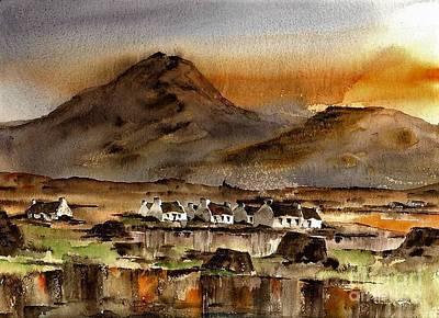 Painting - Ballinakill Bog, Connemara by Val Byrne