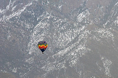 Photograph - Ballon Verses Mountain by David Arment