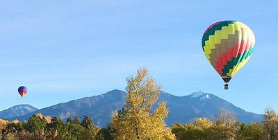 Ballons At Taos Mountain Art Print