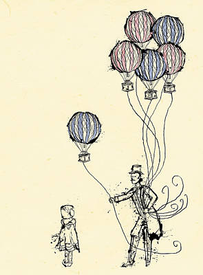 Old-fashioned Digital Art - Ballons For Sale by William Addison