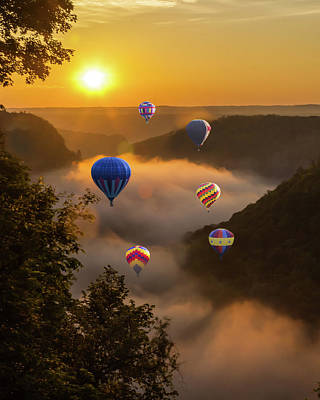 Photograph - Ballons Over Letchworth by Richard Engelbrecht