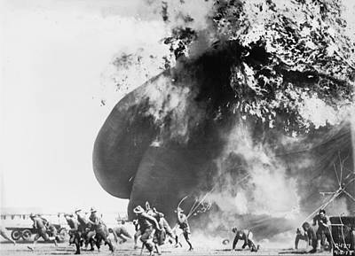 1920s Candid Photograph - Balloon Accident, The Explosion Of An by Everett