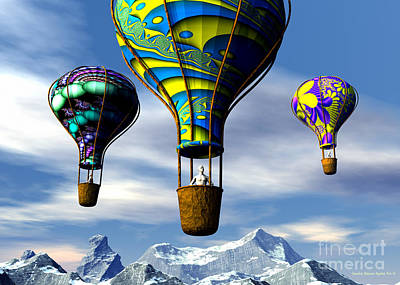 Digital Art - Balloon Adventure by Sandra Bauser Digital Art