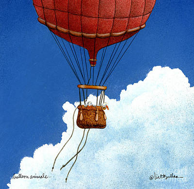 Hot Air Balloon Painting - Balloon Animals... by Will Bullas